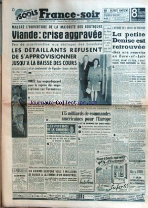 FRANCE SOIR 8 EME EDITION no: 19/09/1951