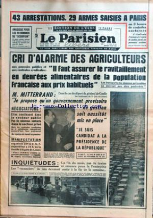 PARISIEN LIBERE GRAND FORMAT (LE) no: 29/05/1968