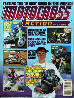 MOTOCROSS ACTION MAGAZINE no:1 01/01/1998