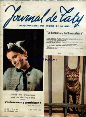 JOURNAL DE TATY no:23 26/11/1941