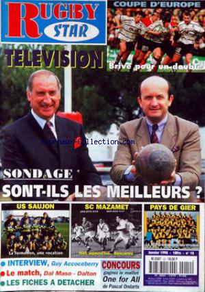 RUGBY STAR no:12 01/01/1998
