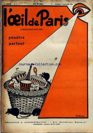 OEIL DE PARIS (L') no:9 05/01/1929