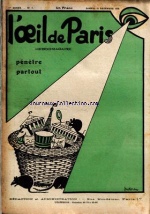 OEIL DE PARIS (L') no:7 22/12/1928