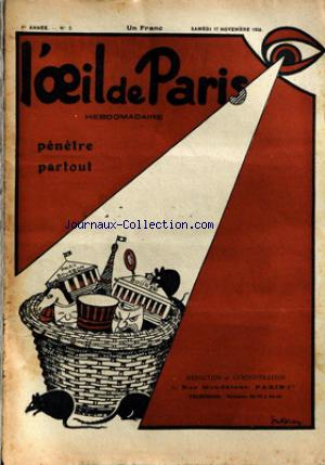 OEIL DE PARIS (L') no:2 17/11/1928