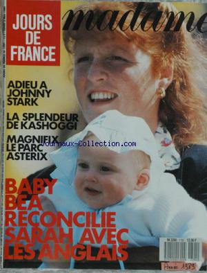 JOURS DE FRANCE MADAME no:1791 01/05/1989