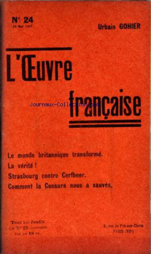 OEUVRE FRANCAISE (L') no:24 24/05/1917