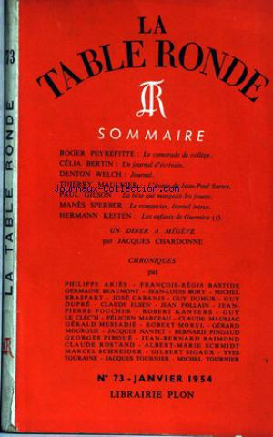 TABLE RONDE (LA) no:73 01/01/1954