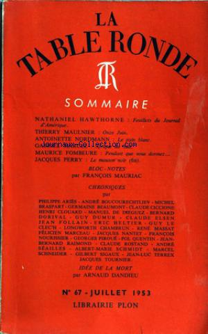 TABLE RONDE (LA) no:67 01/07/1953