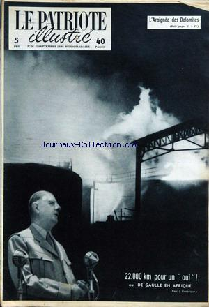 PATRIOTE ILLUSTRE (LE) no:36 07/09/1958