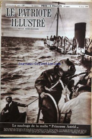 PATRIOTE ILLUSTRE (LE) no:27 03/07/1949