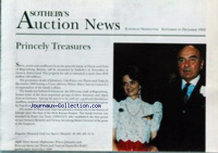 SOTHEBY'S AUCTION NEWS no: 01/09/1992