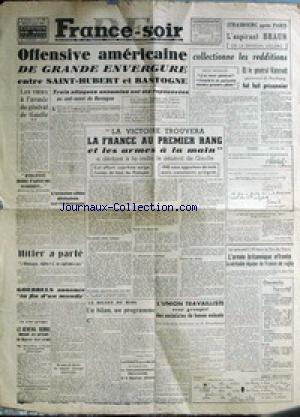 FRANCE SOIR EDITION DE MIDI no:165 02/01/1945