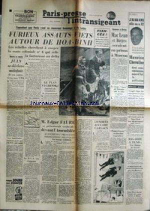 PARIS PRESSE L'INTRANSIGEANT no: 18/01/1952