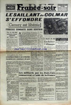 FRANCE SOIR EDITION DE MIDI no:193 06/02/1945