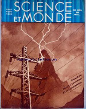 SCIENCE ET MONDE no:15 27/08/1931