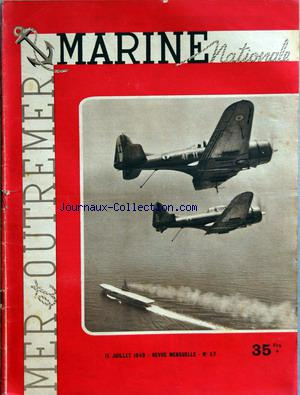 MARINE NATIONALE MER OUTREMER no:57 15/07/1949