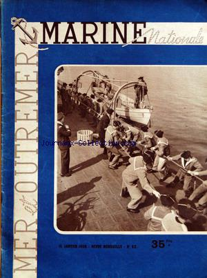 MARINE NATIONALE MER OUTREMER no:63 15/01/1950