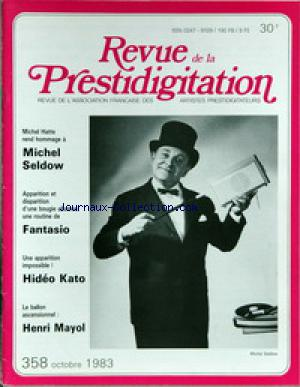 REVUE DE LA PRESTIDIGITATION no:358 01/10/1983