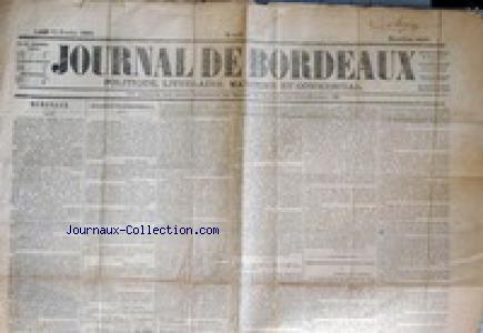 JOURNAL DE BORDEAUX no:847 13/02/1865