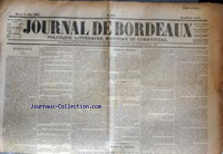 JOURNAL DE BORDEAUX no:936 16/05/1865
