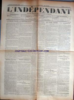 INDEPENDANT (L') no:15 14/04/1928
