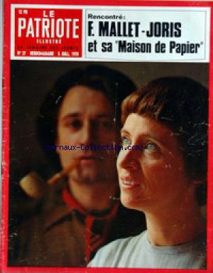 PATRIOTE ILLUSTRE (LE) no:27 05/07/1970