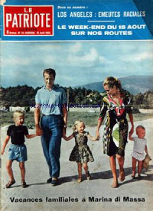 PATRIOTE ILLUSTRE (LE) no:34 22/08/1965