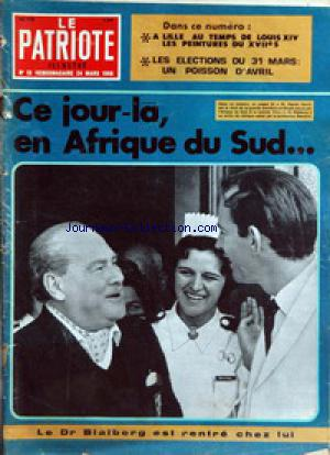 PATRIOTE ILLUSTRE (LE) no:12 24/03/1968