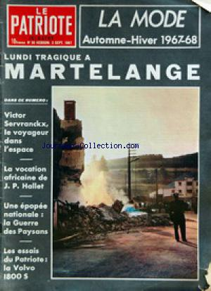 PATRIOTE ILLUSTRE (LE) no:36 03/09/1967