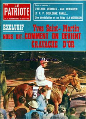 PATRIOTE ILLUSTRE (LE) no:34 25/08/1968