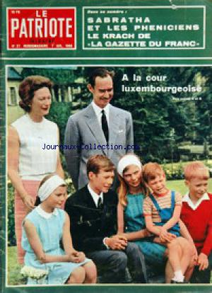 PATRIOTE ILLUSTRE (LE) no:27 07/07/1968
