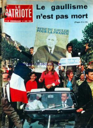 PATRIOTE ILLUSTRE (LE) no:23 09/06/1968