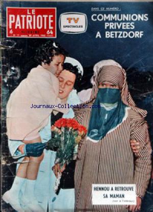 PATRIOTE ILLUSTRE (LE) no:17 29/04/1962