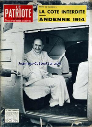 PATRIOTE ILLUSTRE (LE) no:34 23/08/1964