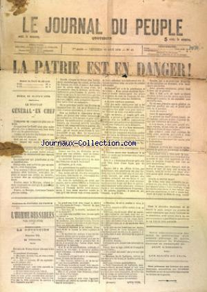 JOURNAL DU PEUPLE LE) no:43 12/08/1870