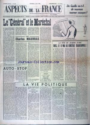 ASPECTS DE LA FRANCE no:189 02/05/1952