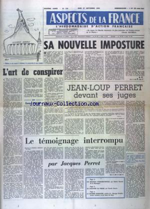 ASPECTS DE LA FRANCE no:733 27/09/1962