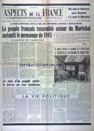 ASPECTS DE LA FRANCE no:149 27/07/1951