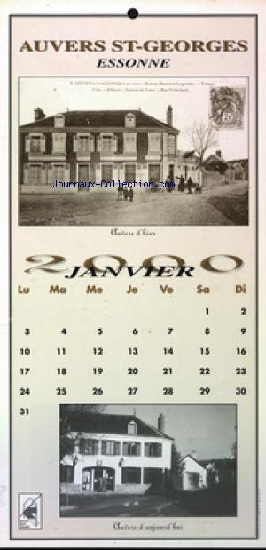 CALENDRIER AUVERS ST GEORGES  no: 01/01/2000