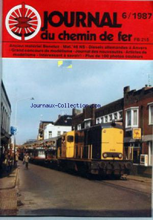 JOURNAL DU CHEMIN DE FER no:6 01/01/1987