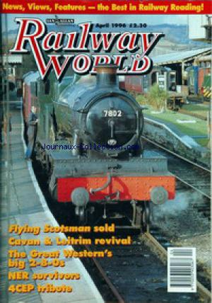 RAILWAY WORLD no: 01/04/1996