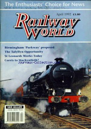 RAILWAY WORLD no: 01/04/1992
