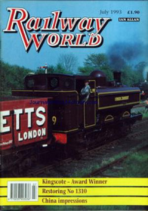 RAILWAY WORLD no: 01/07/1993