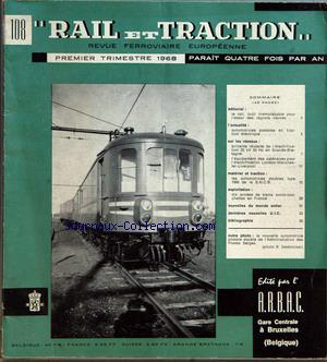 RAIL ET TRACTION no:108 01/01/1968