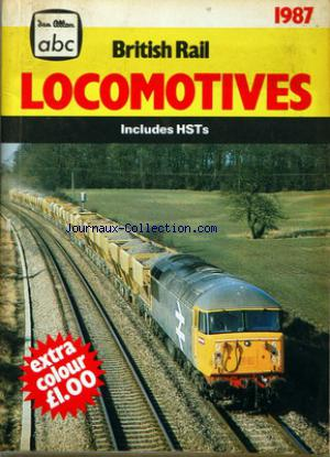 BRITISH RAIL LOCOMOTIVES no: 01/01/1987