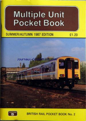 BRITISH RAIL POCKET BOOK no:2 01/07/1987