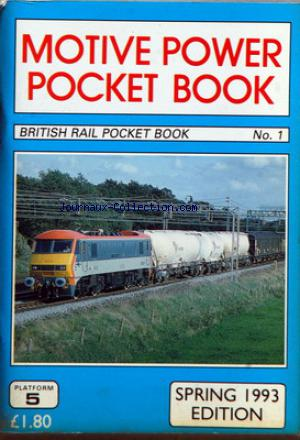BRITISH RAIL POCKET BOOK no:1 01/12/1993