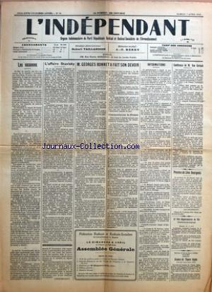INDEPENDANT (L') no:14 07/04/1934