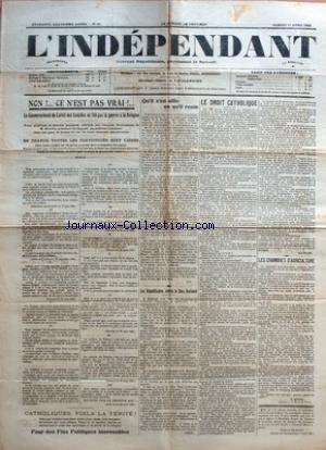 INDEPENDANT (L') no:15 11/04/1925