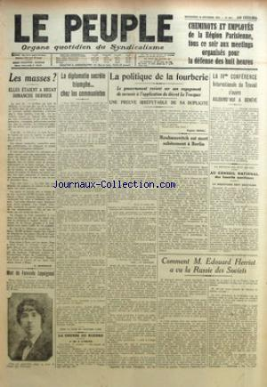 PEUPLE (LE) no:651 18/10/1922